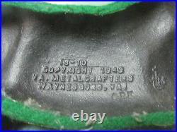 Virginia Metalcrafters Horse Cast Iron Door Stopper hunter 18-10 Vintage 1949