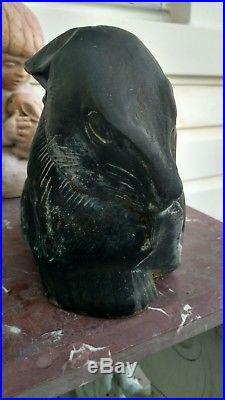Virginia Metalcrafters Shy Rabbit Cast Iron Doorstop Bunny Garden Statute