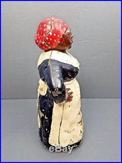Vtg HUBLEY BLACK MAMMY CAST IRON # 486 DOORSTOP Black Americana Aunt Jemima