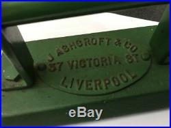 Vtg J Ashcroft & Co Liverpool Cast Iron Snooker Billiards Table Iron Door Stop
