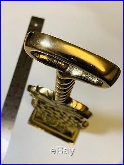 Williamsburg Virginia Metalcrafters Solid Brass 15.5 Pineapple Door Stop 2001