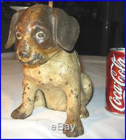 XXX RARE! ANTIQUE HUBLEY CAST IRON BEAGLE DOG HOME ART STATUE DOORSTOP WEIGHT