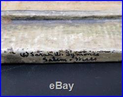 Xrare Antique Cast Iron Doorstop Nichols House Salem Mass Museum Quality Signed